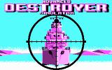 Advanced Destroyer Simulator DOS Title screen (CGA)
