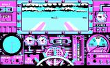Advanced Destroyer Simulator DOS I'm going to attack these transport ships with the cannons. (CGA)