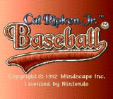 Cal Ripken Jr. Baseball SNES Title screen