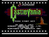 Castlevania NES Title screen