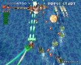 RayStorm PlayStation Stage 2, with underwater ships