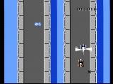 Spy Hunter NES The helicopter attempts to bomb you off the road