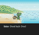 Croc 2 Game Boy Color A Gobbo is wishing Croc good luck on his quest