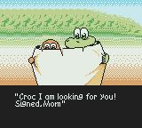 Croc 2 Game Boy Color Croc and a Gobbo are reading a letter