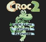 Croc 2 Game Boy Color Main Menu
