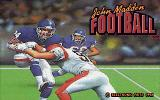 John Madden Football Amiga Title screen