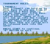 Bass Masters Classic SNES Tournament rules