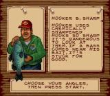Bass Masters Classic SNES Choose an angler.