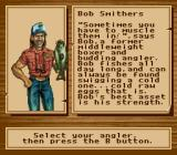 Bass Masters Classic: Pro Edition SNES Choose an angler.