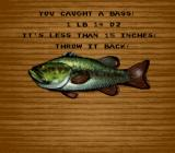 Bass Masters Classic: Pro Edition SNES Info on the captured fish
