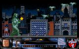 Ghostbusters II Amiga Firing flying ghosts.
