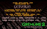 Gremlins 2: The New Batch Amiga Copyright info