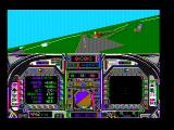 Blue Angels: Formation Flight Simulation DOS Flying around a bit (CGA composite mode)