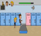 MTV's Beavis and Butt-Head SNES Watch out for falling lockers.