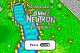 The Adventures of Jimmy Neutron: Boy Genius Vs. Jimmy Negatron Game Boy Advance Title screen