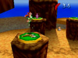 Banjo-Kazooie Nintendo 64 Kazooie can jump super high when she learns how to use these pads.