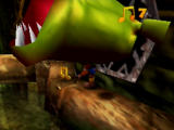Banjo-Kazooie Nintendo 64 These monsters in Clanker's Cavern pop out to scare you.