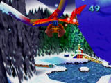 Banjo-Kazooie Nintendo 64 Flying through Freezeezy Peak.