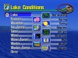 BassMasters 2000 Nintendo 64 Customizable options in Lake Conditions
