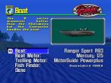 BassMasters 2000 Nintendo 64 Customizable options in Boat