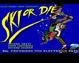 Ski or Die Amiga Title screen