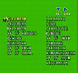 Super Play Action Football SNES Some of the college teams in the game