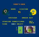 Super Play Action Football SNES Matchup screen