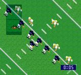 Super Play Action Football SNES The overview screen can be shrunken down