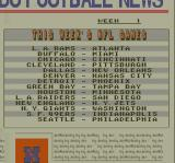 Super Play Action Football SNES This weeks matchups