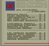 Super Play Action Football SNES League standings