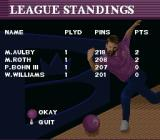 Brunswick World: Tournament of Champions SNES League standings