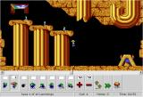 DHTML Lemmings Browser Level 2: Only Floaters can survive this.  And look at how elegantly they're doing it!