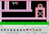 DHTML Lemmings Browser Level 4: Now use miners and climbers.