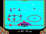 Championship Hockey SEGA Master System Play is resumed with Canada down a player.