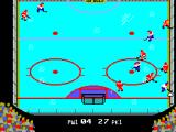 Championship Hockey SEGA Master System There's a mad dash for the puck.