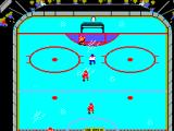 Championship Hockey SEGA Master System WooHoo, my first goal of the match. A little light flashes above the net.