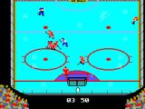 Championship Hockey SEGA Master System Scoring a goal for my team in a United Kingdom vs Canada in a Playoff match.