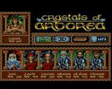 Crystals of Arborea Amiga Main menu
