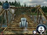 Mafia Windows Silver Fletcher driving across a trestle bridge in the countryside, in FreeRide mode