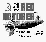 The Hunt for Red October Game Boy Title Screen and Main Menu...