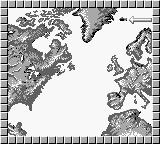 The Hunt for Red October Game Boy Strategical Map of the events...