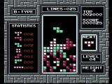 Tetris NES Starting a game with some tiles on the screen