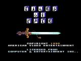 Tiles of Fate NES Title screen