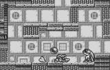 Mega Man & Bass WonderSwan Dodging an enemy projectile.