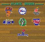Tecmo Super NBA Basketball SNES Choose which team you want to play as.
