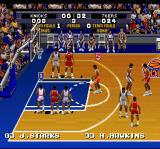 Tecmo Super NBA Basketball SNES At the free throw line
