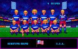 Rick Davis's World Trophy Soccer Amiga Fist match is against USA