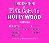 Pink Goes to Hollywood SNES Options