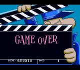Pink Goes to Hollywood SNES Game over