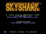 Sky Shark NES Title screen